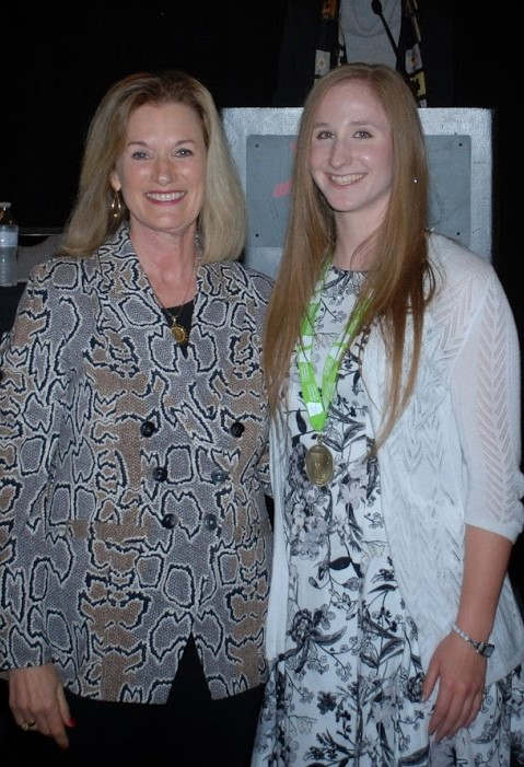 Kayla pictured with Dr. Sandra Massey.