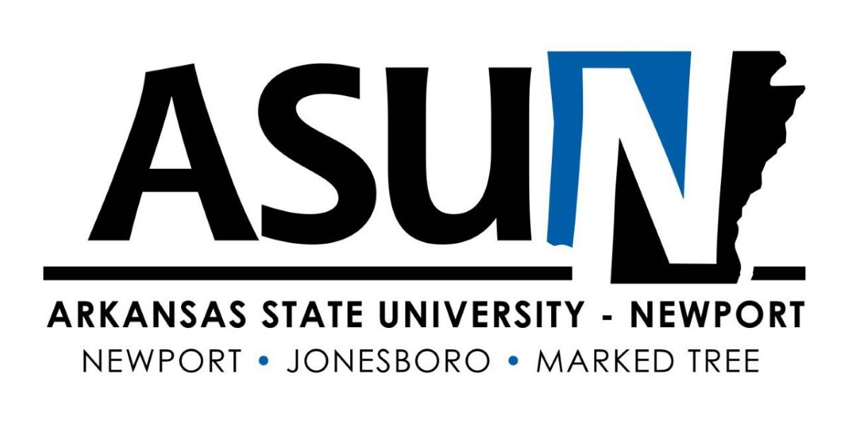 The new ASUN collegiate logo with the color variation of Persian Blue.