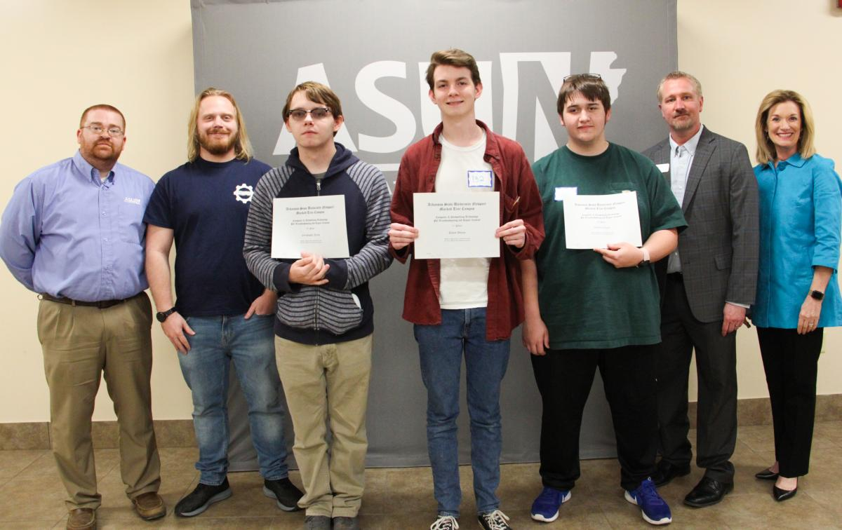 Computer Networking Technology winners pictured at the competition.