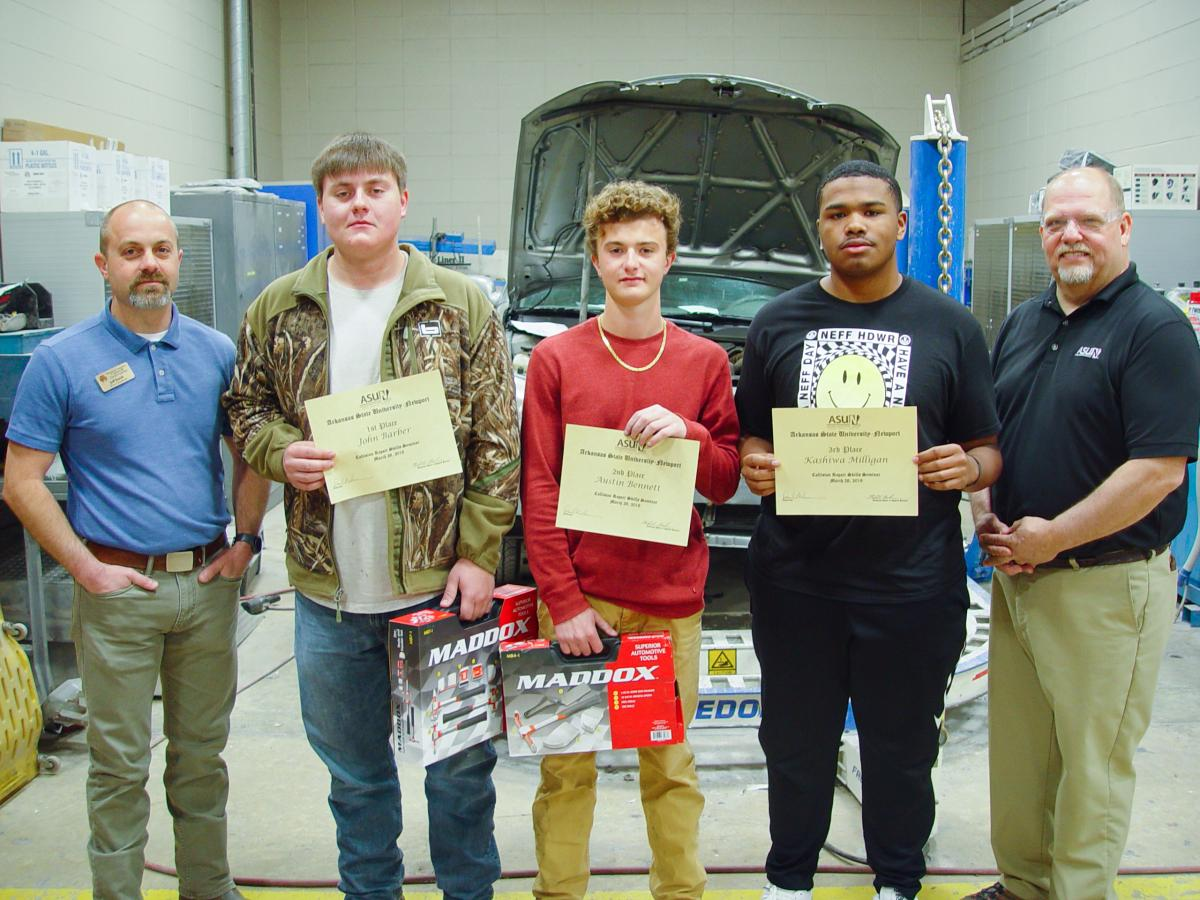 Collision Repair & Refinishing Technology winner pictured at the competition.