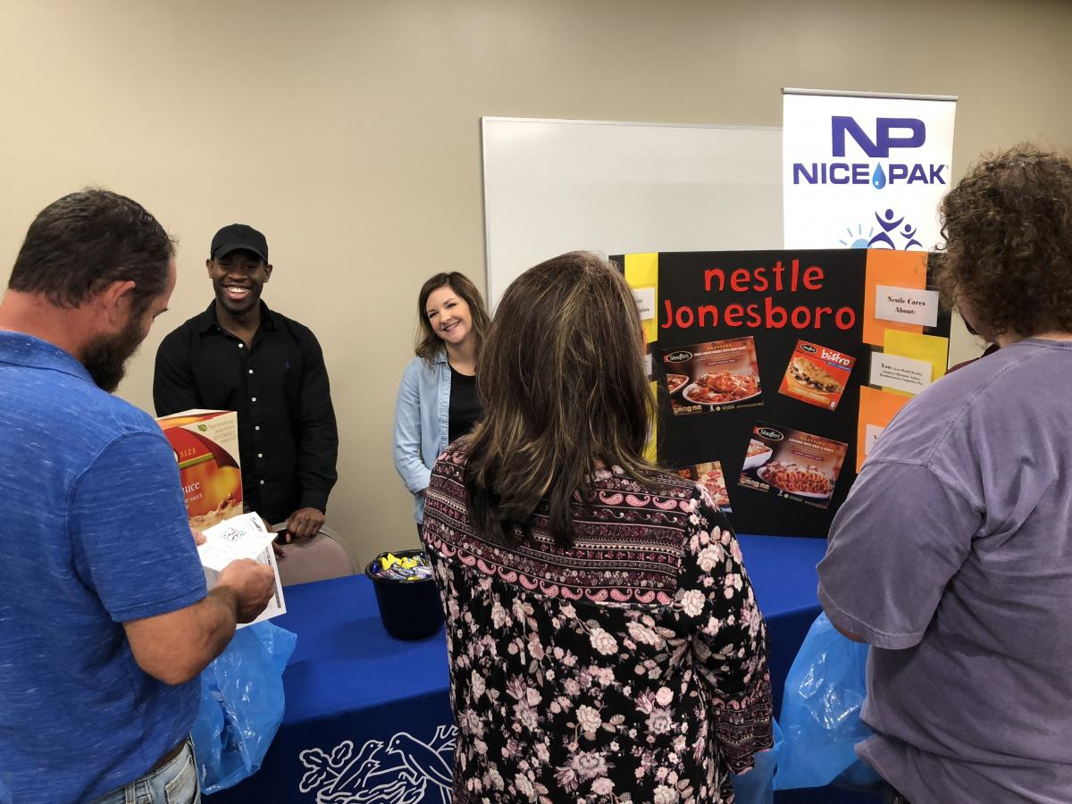 Students visiting with Nestle