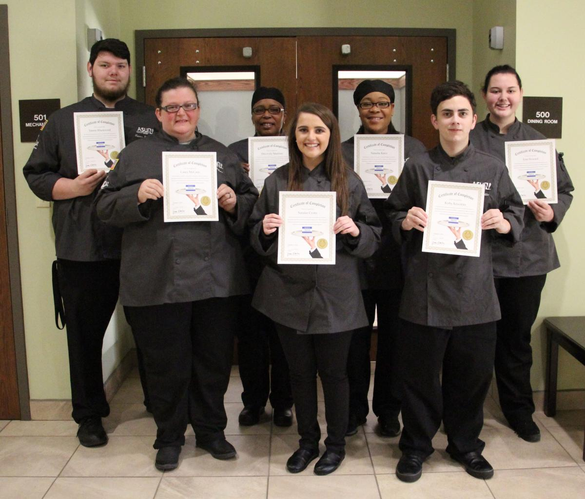 Students received the First Impression Certification.