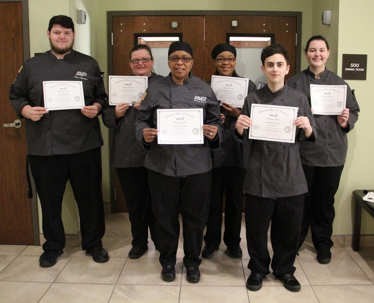 Students received Restaurant Server certification.