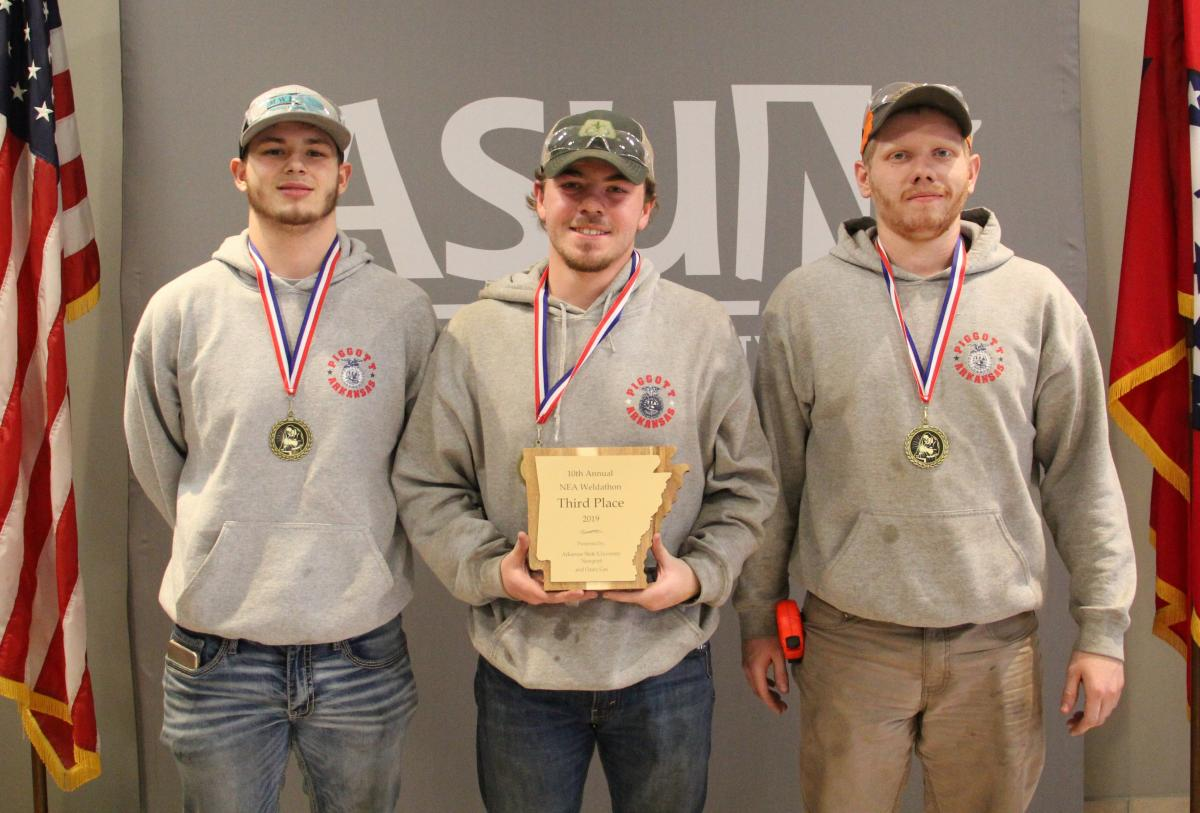 Third place winners pictured from left: Dylan Bellers, Brandon Wellman and Dylan West