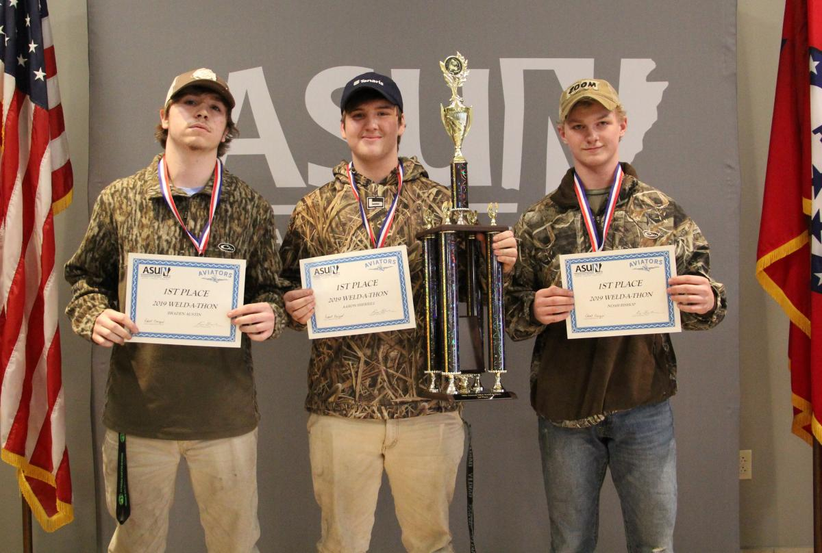 First place winners pictured from left: Braden Austin, Aaron Sherrill and Noah Bishop