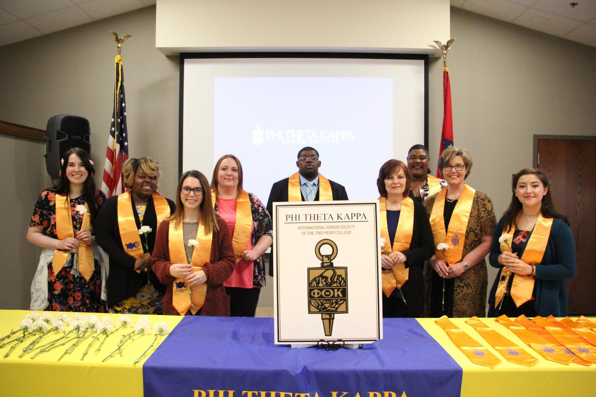 PTK's new members following the induction ceremony.