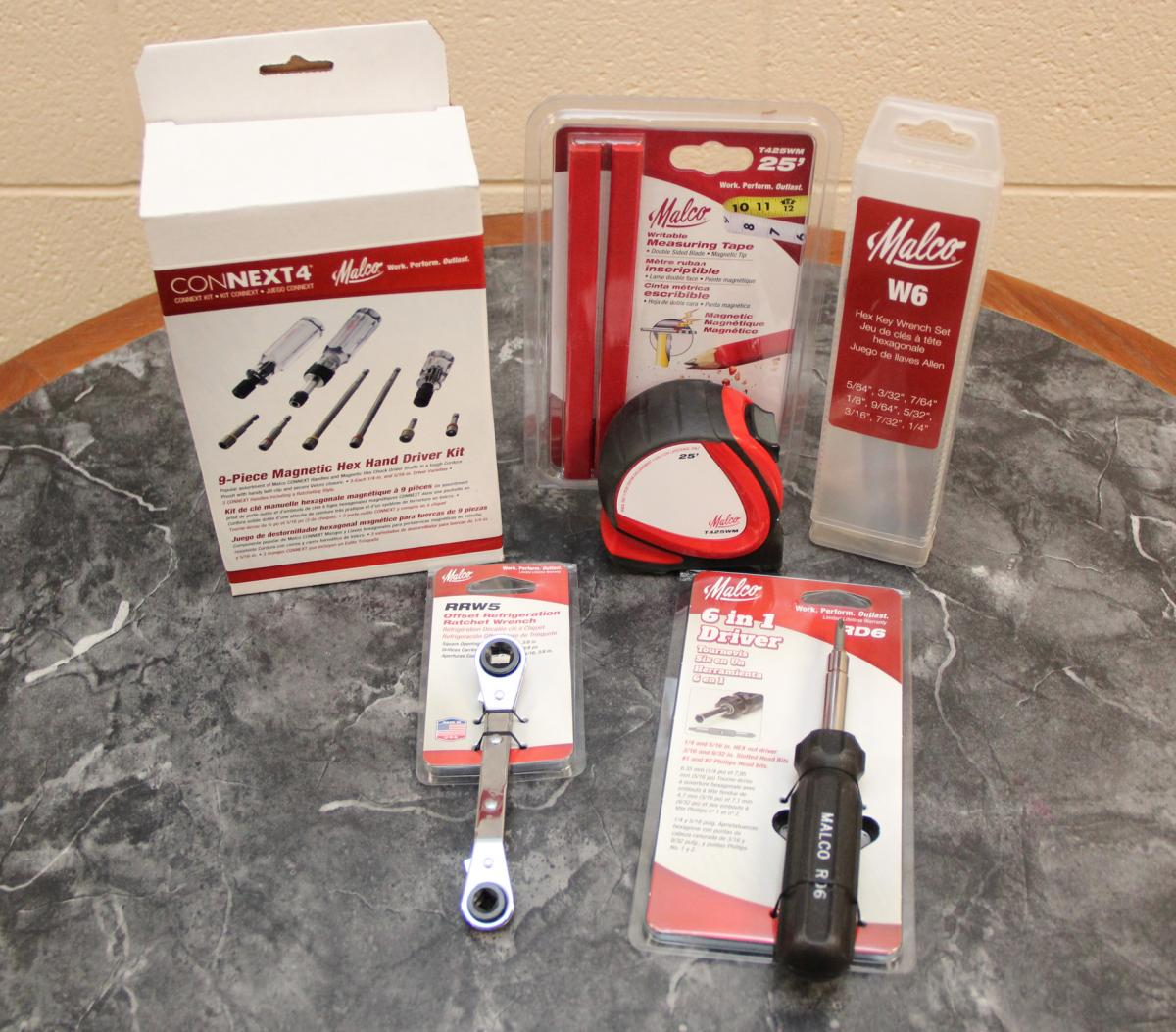Tools that Malco Products provided to Jeremy Mullins.