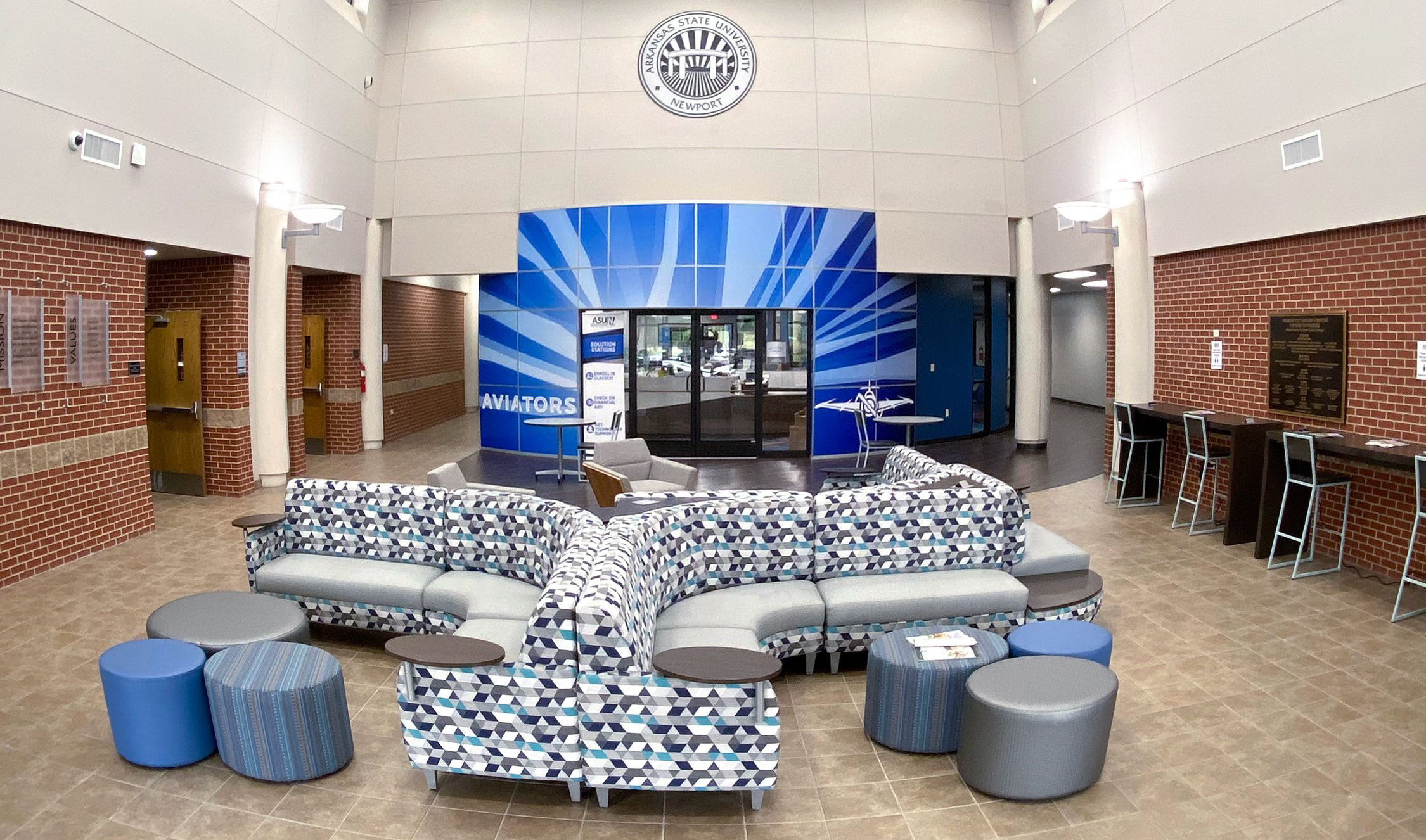 Photo of the Student Community Center Lobby