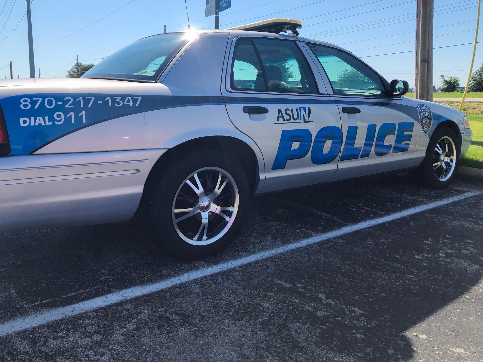 photo of campus police car