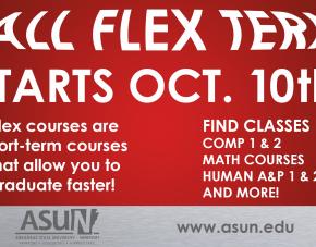 Fall Flex Term Starts October 10th!