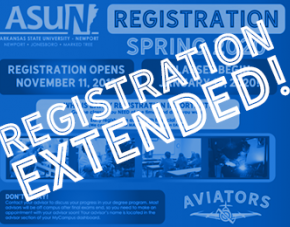 Registration Extended over graphic and images.