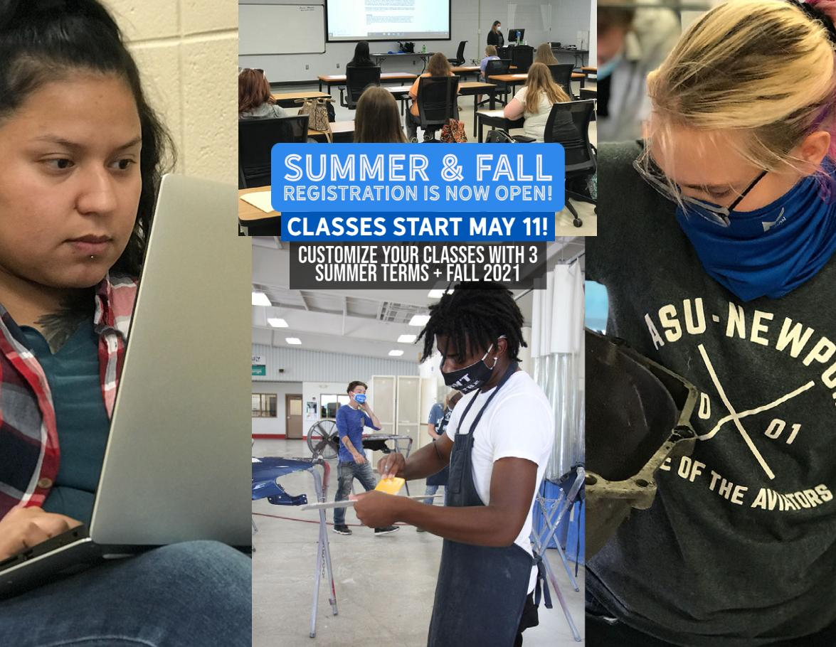 Summer and Fall Registration is now open!