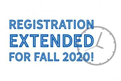 Registration Extended for Fall 2020