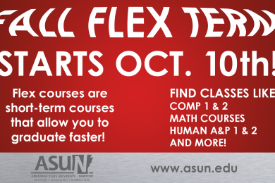 Fall Flex Term Starts October 10th!