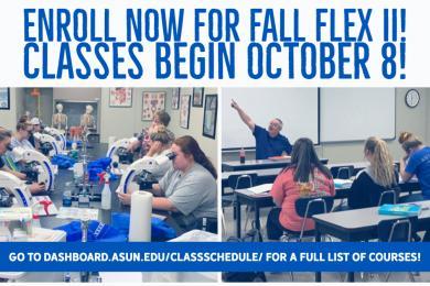Enroll Now For Fall Flex 2