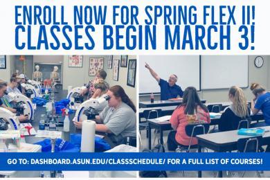 Enroll now for Spring Flex 2